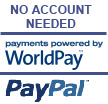 No account necessary. Pay quickly by Palpal or Through Worldpay